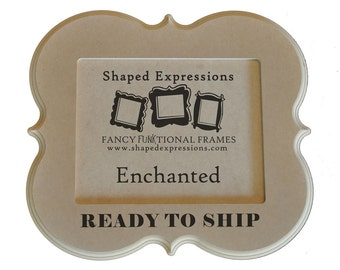 READY TO SHIP - 5x7 Enchanted unfinished picture frame