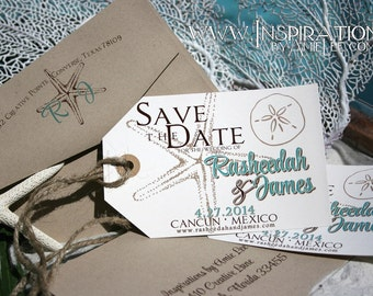Luggage Tag Save the Dates, save the dates, luggage tag, destination wedding,