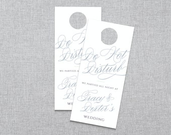 Scripted Elegance - Destination Wedding Do Not Disturb Door Hanger - Custom Printable PDF
