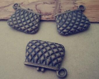 6pcs of  bronze Mini Money bag Charms 19mmx24mm