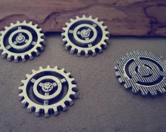 20pcs 18mm  Antique silver gear pendant charm