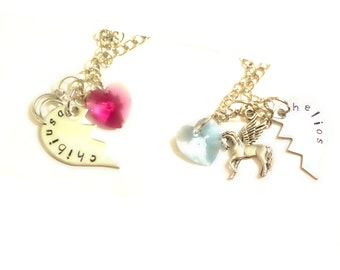 Chibiusa & Helios Best Friends/Lovers Necklaces