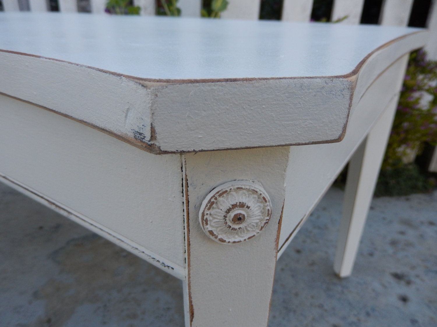 Vintage Coffee Table Shabby Cottage Chic By Lachicvintagecloset