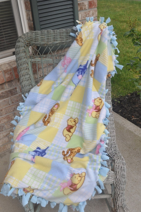 Winnie the Pooh Blanket Reversible Double Layered Hand Tied