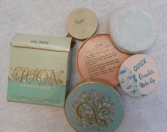 2 Vintage Avon Containers with Powder from 40/50s