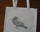 The Raven embroidered Tote