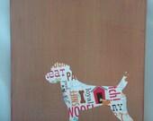 Dog Art On Canvas - Terrier Standing