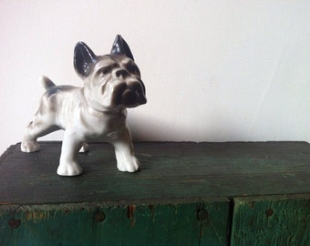 Bulldog figurine DOG Japan 50s decor collectible K9 puppy Bully breed French bulldog Frenchie