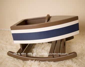 Nautical Boat Rocker for Nursery