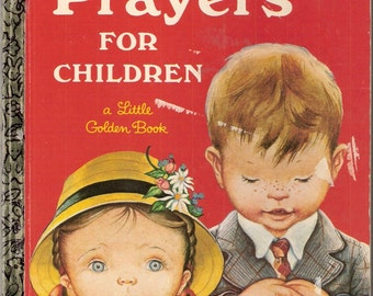 Prayers For Children Vintage Little Golden Book Illustrated by Eloise Wilkin 1969
