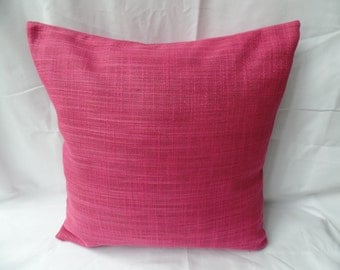 "16"" Modern pink, cerise cushion cover, scatter cushion, pillow case"
