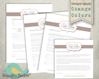 Photography Form Templates -- Print Release and Model Release Forms C