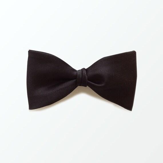 s bow tie black bow tie black satin self bow tie for