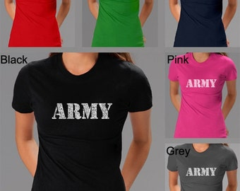Women's T-shirt - Created Using The Lyrics To The Army Song