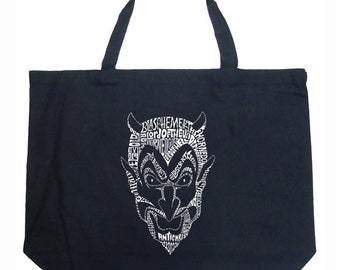 Large Tote Bag - Created using different names for The Devil's Names