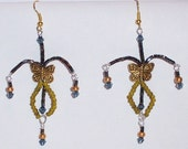 WHIMSICAL butterfly dangle earrings