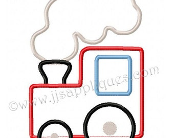 Instant Download - Train Embroidery Applique Designs - Train Engine digitized embroidery applique design 4x4, 5x7, and 6x10 hoops