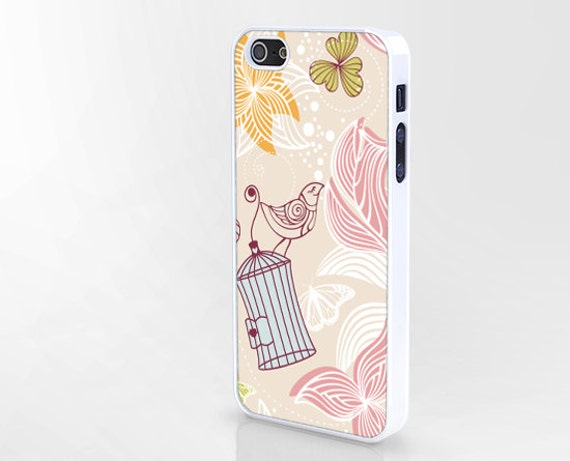 spring iphone case,flower iphone 4 case,bird iphone 4s case,pink iphone 5s case,drawing iphone 5 case,iphone 5c case,cartoon case