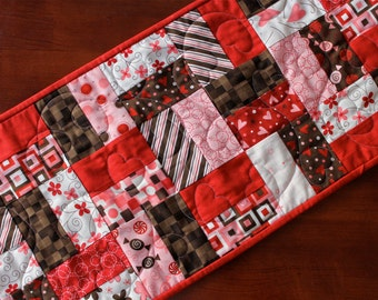 Quilted Valentine's Table Runner