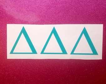 Sorority Greek Monogram Vinyl Decal