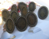Ring Blanks 10pcs Adjustable Antique Bronze Ring Base 18x25mm pad Crafts