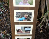 Quadruple Picture Frame, Distressed Frames, Rustic Picture Frame, Quad 4x6, Unique Christmas Gift, Collage Frame