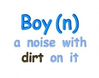 Boy Definition Define Saying Embroidery Design 3x3 4x4 5x7 6x10  INSTANT DOWNLOAD