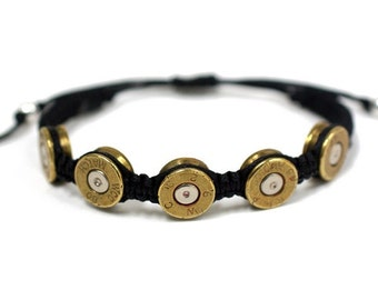 Bullet Bracelet - Unisex Bullet Jewelry - .45 Caliber Adjustable Bracelet - As Seen at GBK's 2016 MTV Movie Award Celebrity Gift Lounge