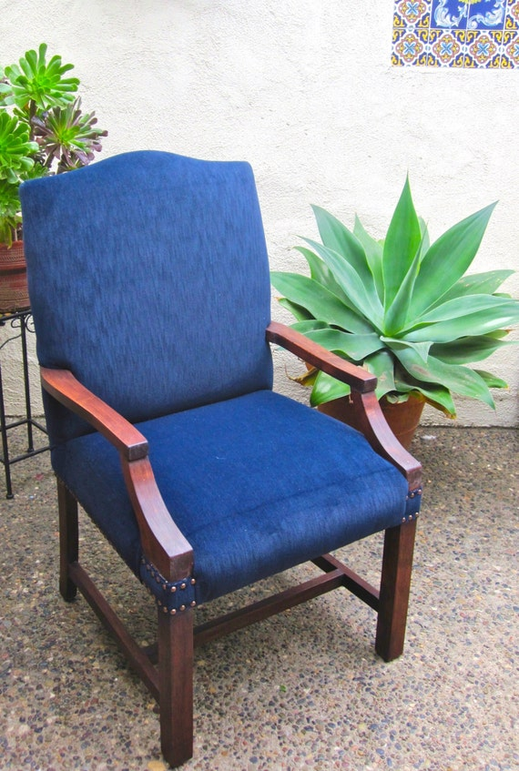 Blue Plaid Accent Chair By Allthingsrecreated On Etsy
