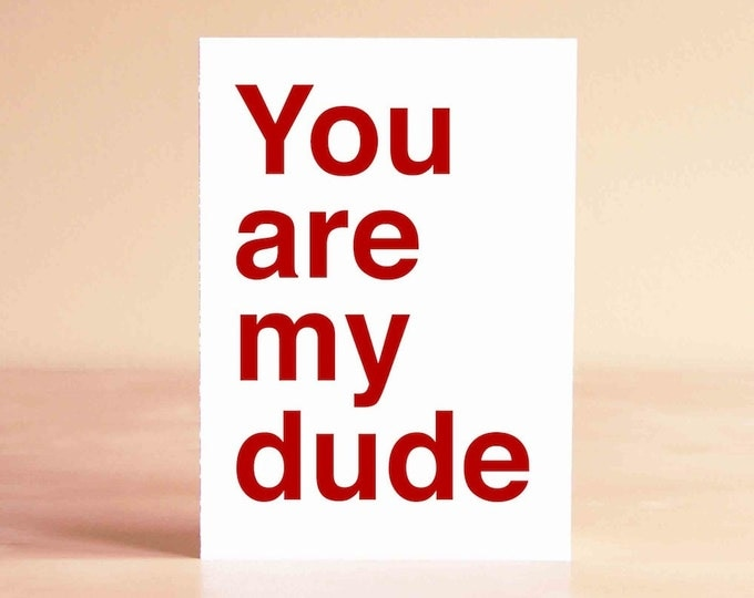 Funny Valentine Card - Funny Anniversary Card - Funny Boyfriend Card - Funny Card - You are my dude