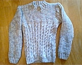 Hand Knitted Aran Boys Round Neck Sweater