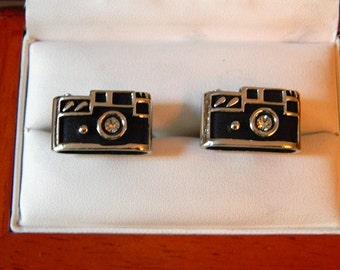 RARE Original Vintage SWANK 50's/Leica Camera Cufflinks