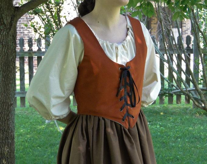 Renaissance Bodice, CINNAMON, Womens Size S, M, L, XL
