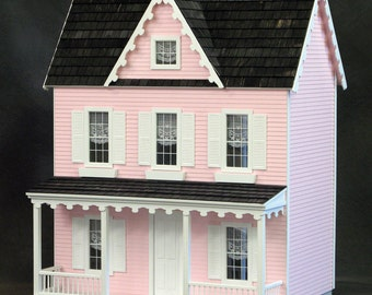 Built & Ready To Decorate Dollhouse, Vermont Farmhouse, Dorothy, Scale One Inch