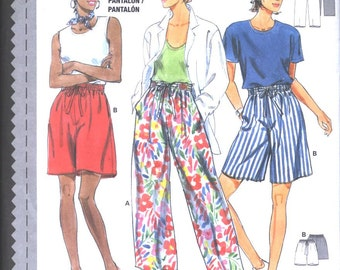 Burda EASY pattern 3790 Misses Classic loose Lounge Pants and Bermuda Shorts sz. 8 to 18- in 3 languages