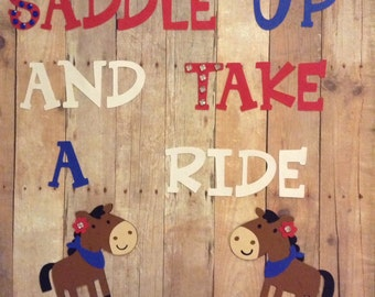 Personalized cowboy/cowgirl birthday sign with rhinestones