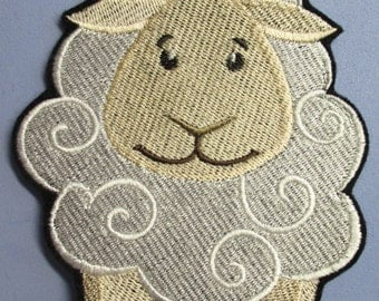 Embroidered Little Sheep Applique, Little Lamb, Applique Patch, Iron On or Sew On, Childrens, Childs, Boys and Girls Patch