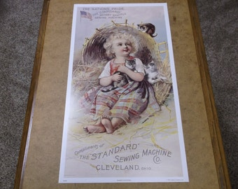 Vintage The Standard Sewing Machine Co. Poster 1991