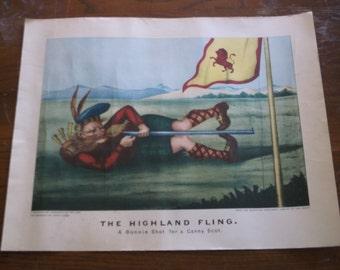 Vintage Remington Arms Print,1968 The Highland Fling. A Bonnie Shot for a Canny Scot.