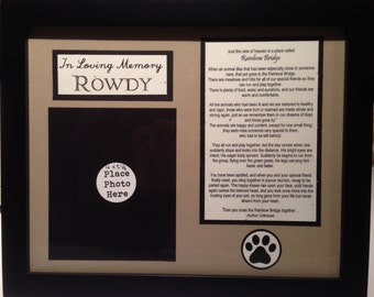 In Loving Memory --- Custom Order Dog Layout -- Rainbow Bridge