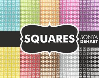 80% OFF Sale Square Digital Paper, Squares paper, Greek Squares, Greek Digital Paper, Greek Patterns, Greek Digital, Square Backgrounds