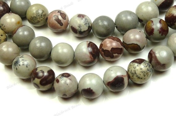 6mm Crazy Horse Stone Beads - 16 Inch Strand - Natural Gemstone, Round, Opaque - BC14