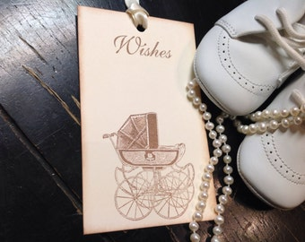 Gender neutral baby shower wish tags-Baby shower boy or girl theme- baby shower wish tree -set of 12