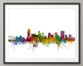 Memphis Skyline, Memphis Tennessee Cityscape Art Print (1223)