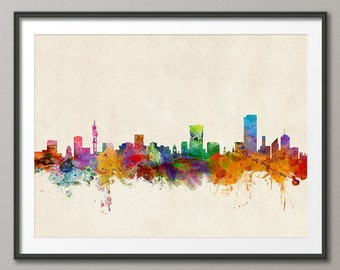 Pretoria Skyline, Pretoria South Africa CityscapeArt Print (368)
