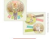 PSD Holiday Card Template - Joy Ballons - E223