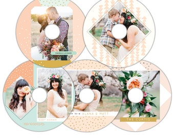 Instant download - CD/DVD Label templates -  Magical sweetness -  E1105
