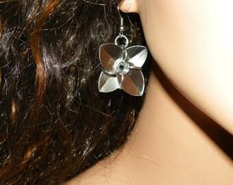 Chainmaille Flower Earrings