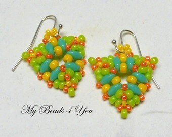 Bead Woven Earrings, Seed Bead Earrings, Beaded Earrings, Beadwork, Beadwoven Earrings, Beaded Jewelry, Beadwoven Jewelry