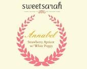 Annabel (Strawberry, Apricot, White Poppy)